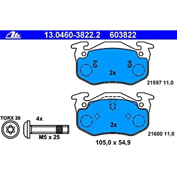 ATE 13046038472 Jeu de m/âchoires de freins /à disques