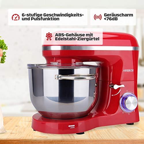 Arebos Küchenmaschine rot - 4