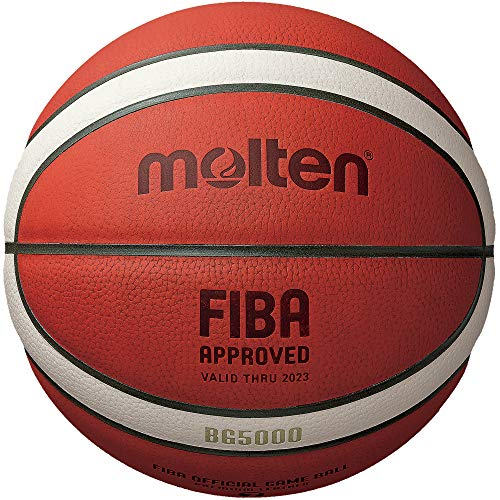 Molten BG-Series Leather Basketball, FIBA Approved - BG5000, Size 6, 2-Tone (B6G5000)
