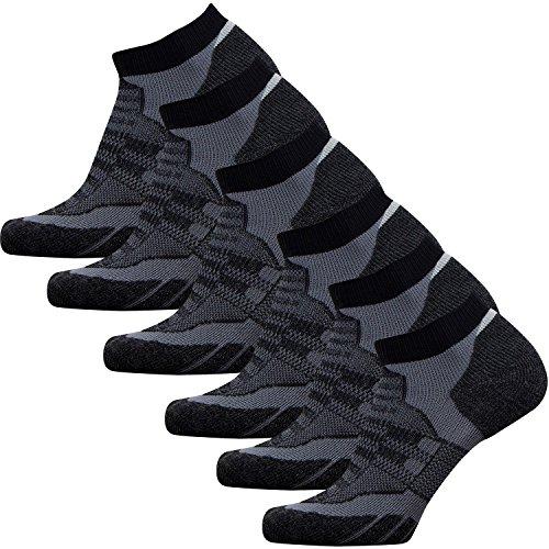 Low-Show Wool Running Socks – Cushioned Merino Wool Athletic Socks for Men and Women, Moisture...