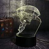 3D Led Lampe 3D Licht Illusion Licht Nachtlicht Spielhaus Eis Und Feuer Lied Acryl Rgbusb Tischlampe...