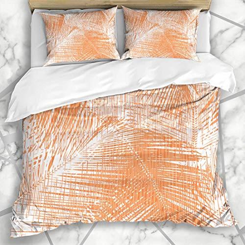 Conjuntos de funda nórdica Imprimir Diseño gráfico Palm Seamless Leaf Tile Pattern Textile Paper Interiors Textures Presentation Soft Microfiber Decorative Dormitorio con 2 fundas de almohada