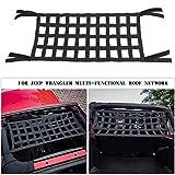 Mesh Cargo Net, Auto Roof Net Hammock for Jeep Wrangler YJ TJ JK JKU JL JLU JT 1987-2020