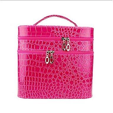 RY@ Femme Crocodile Décontracté Trousse de Maquillage , pink
