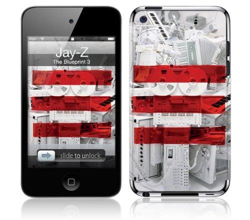 MusicSkins - Jay-Z The Blueprint 3 selbstklebende Schutzhülle für Apple iPod touch 4th generation A1367