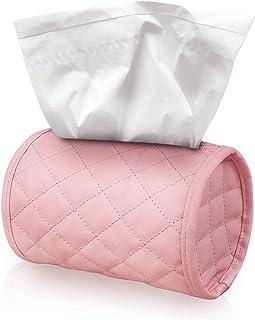 Kytpyi Car Tissue Box, 18.2 x 12cm Tissue Holder Box Car Tissue Holder Leather Tissue Box Hanging Tissue Holder Car Tissue...
