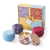 Aromatherapy Candles, Scented Candles Gift Sets for Women 2.2oz x 4 Pack Portable Travel Tin Candles...