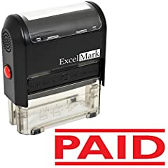 "Two-sided ink pad gives you double the impressions Attractive, clear mount allows you to accurately line up your stamp Ink pads are replaceable and re-inkable with ExcelMark self-inking ink Prints in red ink Impression area: 9/16"" x 1-1/2"", Stamp imp..."