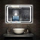 AICA SANITARIOS 120x70cm Espejo de para baño led Anti-Niebla Horizontal Interruptor de Sensor de un Toque