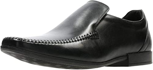 Clarks Glement Naht Mens Formale Slip-on-Leder-Slipper