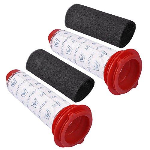 KEEPOW Filtros Lavables para Aspiradora Escoba Bosch Athlet, Pack Familiar Incluye 2 Filtros Lavables + 2 Espumas, Set de 4