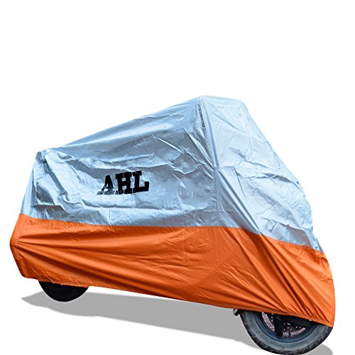 AHL Funda para Moto Funda Protector Cubierta Resistente A Prueba de UV (Naranja,XL)