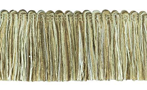 16.5 Meter Value Pack of Veranda Collection 51mm Brush Fringe Trim|Light Brown, Ivory, Sandstone Beige|Style#: 0200VB|Color: Cappuccino - VNT1 (54 Ft / 18 Yards)