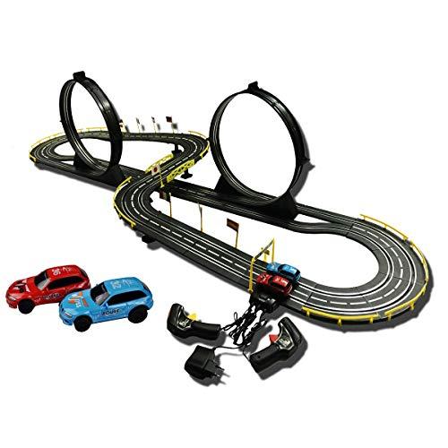 Trazer Corredores 6.54m Slot Cars R/C High Speed Control Remote Racing Racing Empresolero De La Pista String Slot Race Carry Track Boy Y Galthday Present Race Track Sets Juguetes