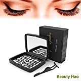 Beauty HAO 2019 Upgraded Magnetic Eyelashes, 3D Ultra Thin Handmade Natural False Eyelashes with Three Magnet