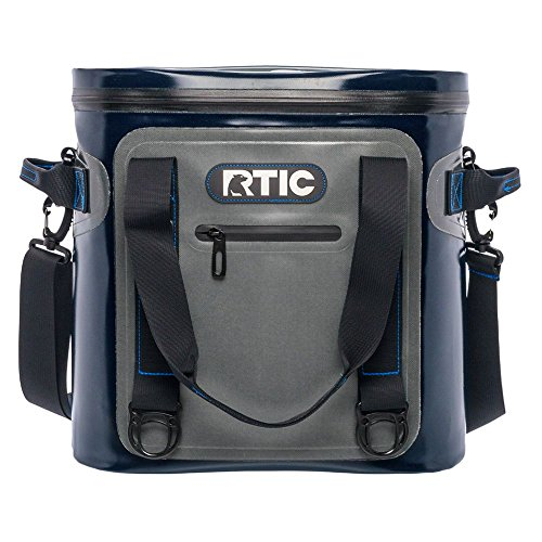 RTIC Soft Cooler 20, Grey, Insulated Bag, Leak Proof Zipper, Keeps Ice Cold for Days