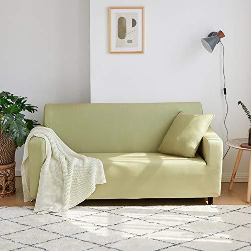 NOBCE Funda elástica para sofá elástica seccional para sofá para Sala de Estar, Funda para sofá en Forma de L, Funda para sillón de Esquina, 1/2/3/4 plazas, Amarillo 145-185CM