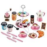 Sharplace Kinder-Tee-Set für kleine Mädchen Pretend Play Tea Party Spielzeug Tee-Set Spielhaus Spielspielzeug Geschenke ab 3 Jahren