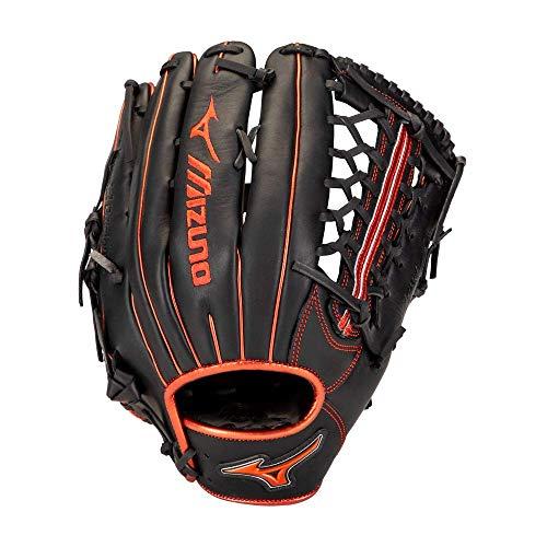 "Mizuno GMVP1275PSE8 MVP Prime SE Outfield Baseball Glove 12.75"", Right Hand Throw, BLACK-RED"