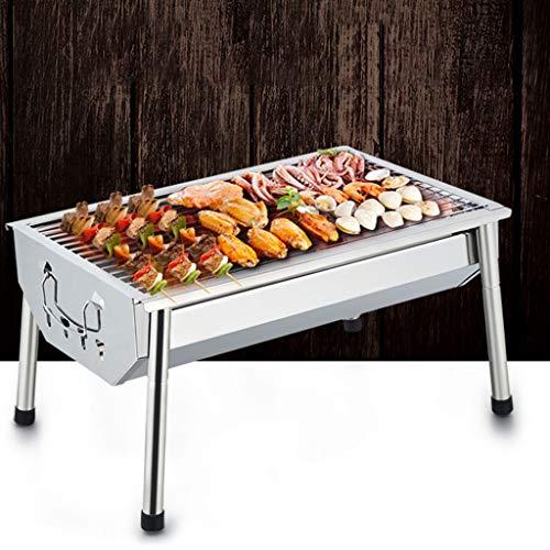 51Tut 26+pL - WZHZJ Silber im Freien Grill Tisch, Einfacher Barbecue Faltbare Barbecue-Ofen Non Stick Pan Barbecue Outdoor Equipment