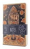 LEABAGS Pocket Notes Deco Edition Notizbücher 68 Seiten 9x14 cm - 3er Pack