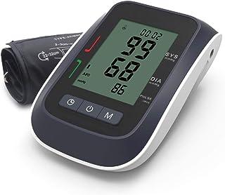 LTLGHY Tensiómetro De Brazo, Monitor De Presión Arterial Digital con Gran Pantalla LED, Deteccion De Irregular Arritmia, Brazalete 22-32Cm, 2X99 Memoria Y Recargable USB