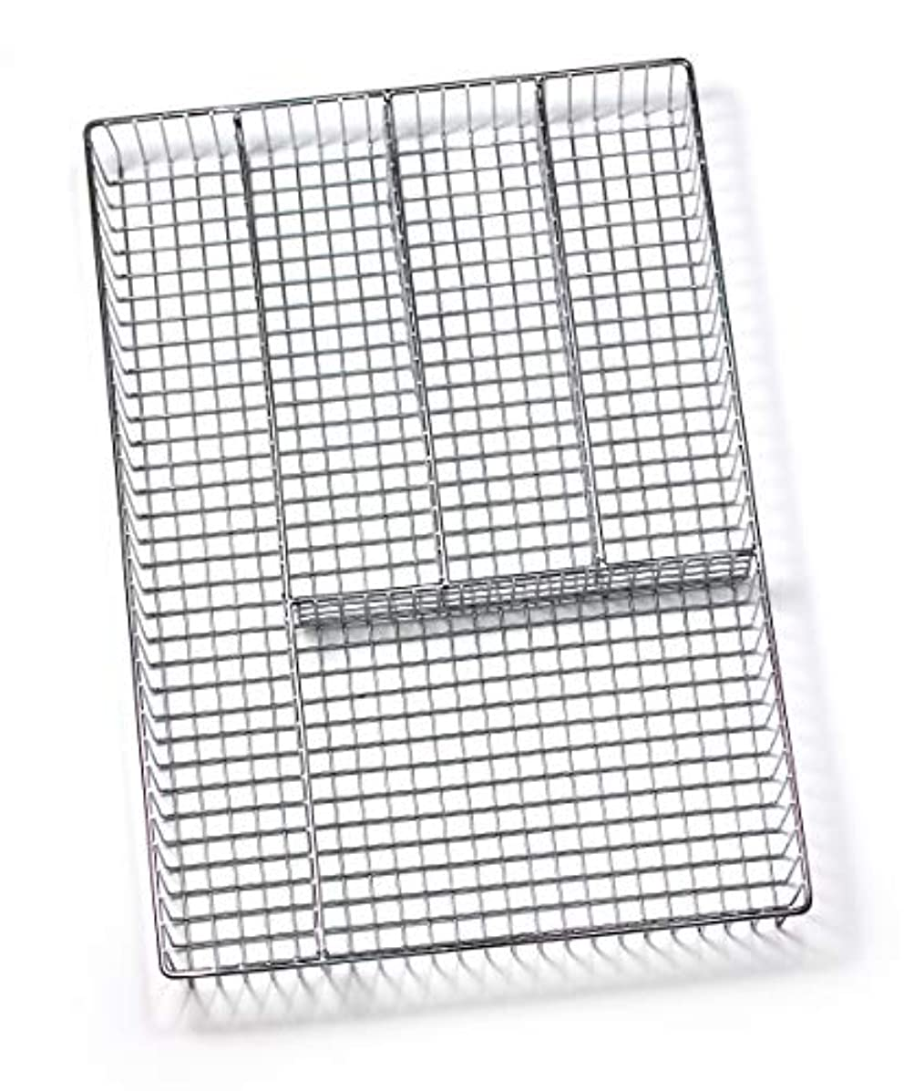 Spectrum Diversified Grid Silverware Tray, Large, Chrome