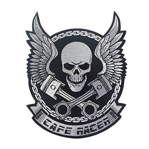 BYFRI Creative-aufnäher Aufkleber Eisen Auf Kleidung Schreiben Schädel-druck Für Jacke Motorrad-rucksack