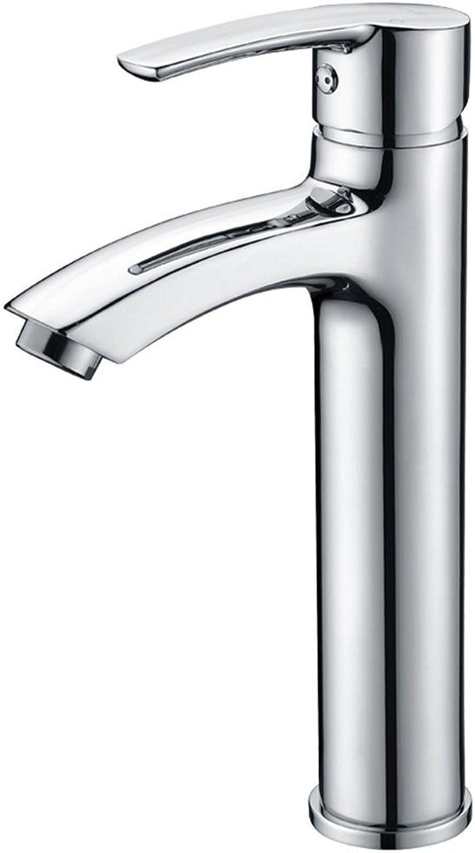 LHbox Bad Armatur in Bad für Waschbecken Waschtisch Wasserhahn Waschtischarmatur Alle Kupfer Einloch einzigen Griff kaltes Wasser Plus Waschtisch Armatur