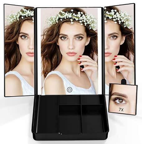 Espejo de Maquillaje plegable 7x
