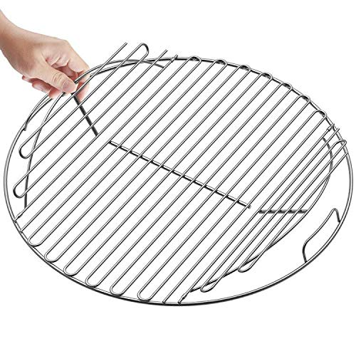 SELEWARE 21.5'' SUS304 Stainless Steel Hinged Cooking Grate, Barbecue Grill Care Fits for Most 22 Inch Charcoal Kettle Grills Like Weber, Char-Broil and Other Grills