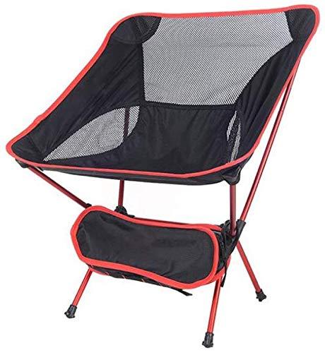 ZXL Camping Klappstuhl, UltraLight Tuinstoel Tragbarer Stuhl mit Tragetasche zum Wandern, Picknick, Engel, Park, Festival, Buiten, Strand usw. (Farbe: Rot) Rood