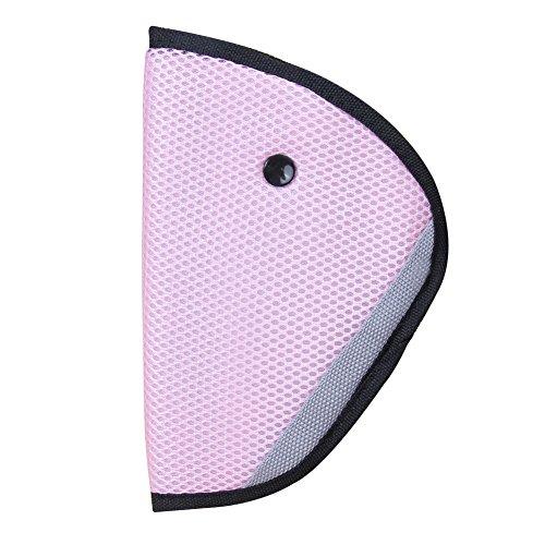 Demiawaking Cintura Fissa della Cintura di Sicurezza per Bambino Regolatore di Cintura di Sicurezza per Auto (Rosa)
