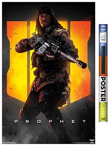 Trends International Call of Duty: Black Ops 4 - Prophet Key Art Wall Poster, 22.375' x 34', Premium Poster & Clip Bundle