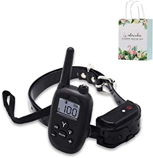 SPet Dog Training Collar -Four Modes 200 Meters Remote Control Electric Shock Training Dog Trainer snoring Electronic Collar,Suitable for Large Medium and Small Dogs,Ran Gift Bags