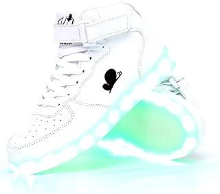 Soy Luna Disney Karol Sevilla´s White LED Sneakers. USB Charge. Non-Slip Sole