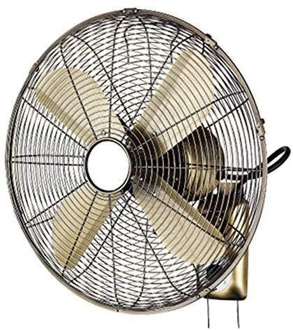 TOPNIU Ventilador montado en la Pared oscilante Interior Ventilador de Pared Retro / 16 Pulgadas / 3 velocidades Ventilador de Pared de Metal oscilante/doméstico Ventilador eléctrico silencioso