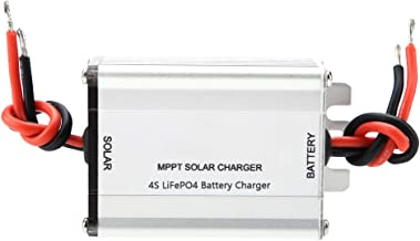 Yunnyp Solar MPPT Controller Charger Battery,18V 5A MPPT Solar Panel Controller 3S Lithium Battery Charging Board 4S LiFePO4 Battery Charging Board