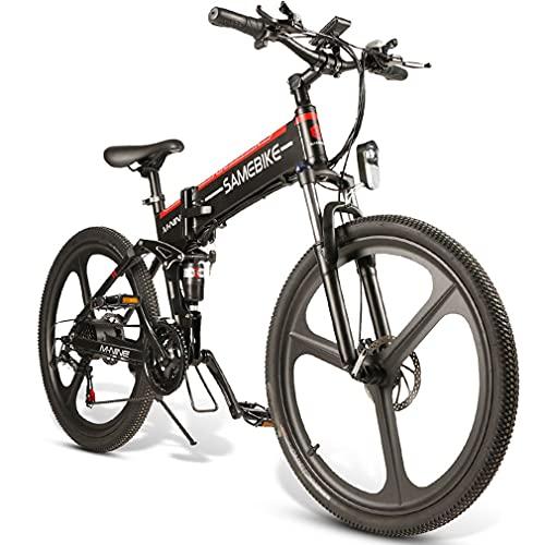 Bicicleta Eléctrica Lo26 26 pulgadas plegable inteligente ligero bicicleta asistida eléctrica 48v 350w motor 10ah al aire libre viaje bicicleta eléctrica