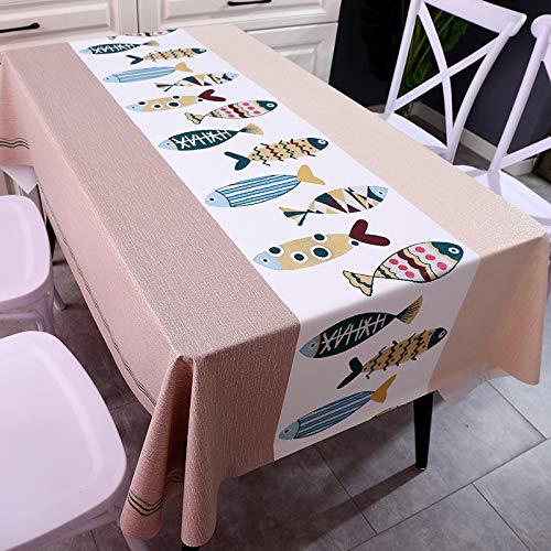 Ropiaece Tovaglia Antimacchia Moderne 140 x 180cm Tela Cerata da Tavolo Rettangolare Plastificata Elegante L'effetto Loto PVC Impermeabile Non Tessuto per Cucina Soggiorno Giardino Esterna