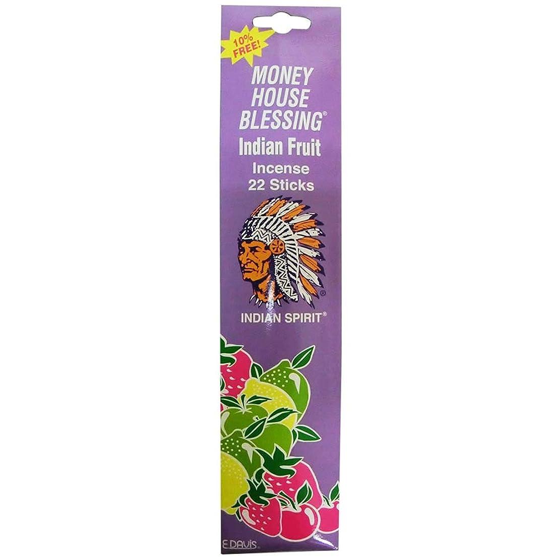 トレイル魅惑する応援するMoney House Blessing Incence Indian Fruit スティックインセンス