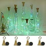 Solar Powered Wine Bottle Lights, Wine Cork Lights 8 Pack Fairy Lights (Bottle NOT Include), Waterproof 20 LED Lights String Copper Lights for Home Wedding Garden Pathway Decor (Muiltcolor)