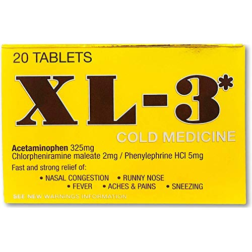 XL-3 Cold Medicine Tablets 20 CT (Pack of 3)