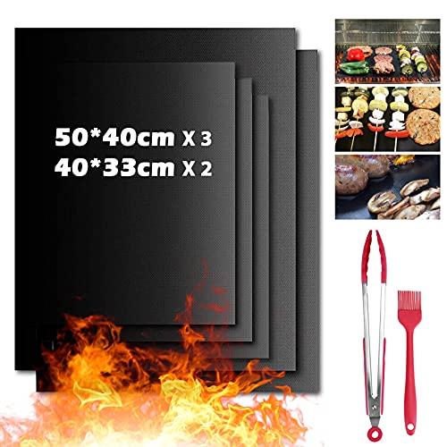 DAWINSIE BBQ Grillmatte, Grillmatten Backmatte 7er Set mit 12