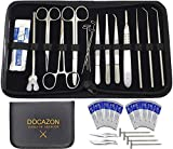 DOCAZON Complete Dissection Set (26 pc) - The All You Need Dissecting Kit from Tools of Medicine for Students in Biology, Anatomy, Laboratory, Surgery, Veterinary, Dental, Nursing, and Medical School