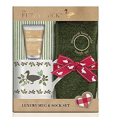 Baylis & Harding Stocking Filler Put Your Feet Up Gift Set, Fuzzy Duck Festive, Mulberry and Mistletoe