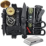 Gifts for Men Dad Husband, Survival Gear and Equipment 14 in 1, Survival Kit Emergency Camping, Fishing Hunting Christmas Birthday Gifts Ideas for Him Boyfriend Teen Boy, Stocking Stuffers Cool Gadget