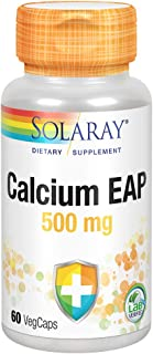 Solaray Calcium EAP 500 mg | Aminoethyl Phosphate for Healthy Immune System Support | Lab Verified | 60 VegCaps