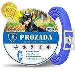PROZADALAN Collares Antiparasitario para Perros Impermeable, 8 Meses de Efectividad. Se Ajusta a la Longitud máxima de 27.6'para Mascotas Pequeñas y Medianas Grandes | Ajustable | Natural
