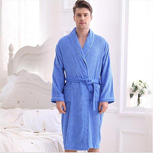 NIGHTSLEEP Männer und Frauen bademäntel Jahreszeiten Modelle Baumwolle Paar Robe Damen Bademantel Handtuch Material Pyjamas sind die gleiche größe, Male, Equal